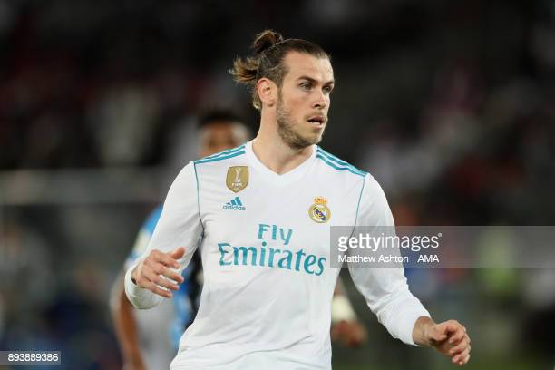 Gareth Bale of Real Madrid looks on during the FIFA Club World Cup UAE 2017 final match between Gremio and Real Madrid CF at Zayed Sports City...