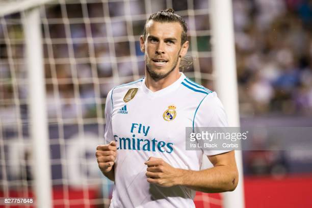 Gareth Bale of Real Madrid reacts to a missed shot on goal during the MLS AllStar match between the MLS AllStars and Real Madrid at the Soldier Field...