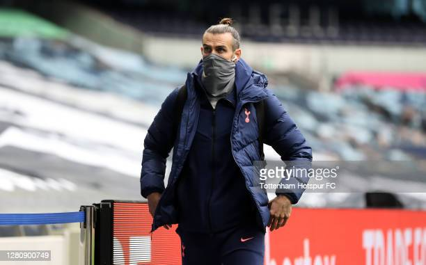 Gareth Bale of Tottenham Hotspur arrives at the stadium prior to the Premier League match between Tottenham Hotspur and West Ham United at Tottenham...
