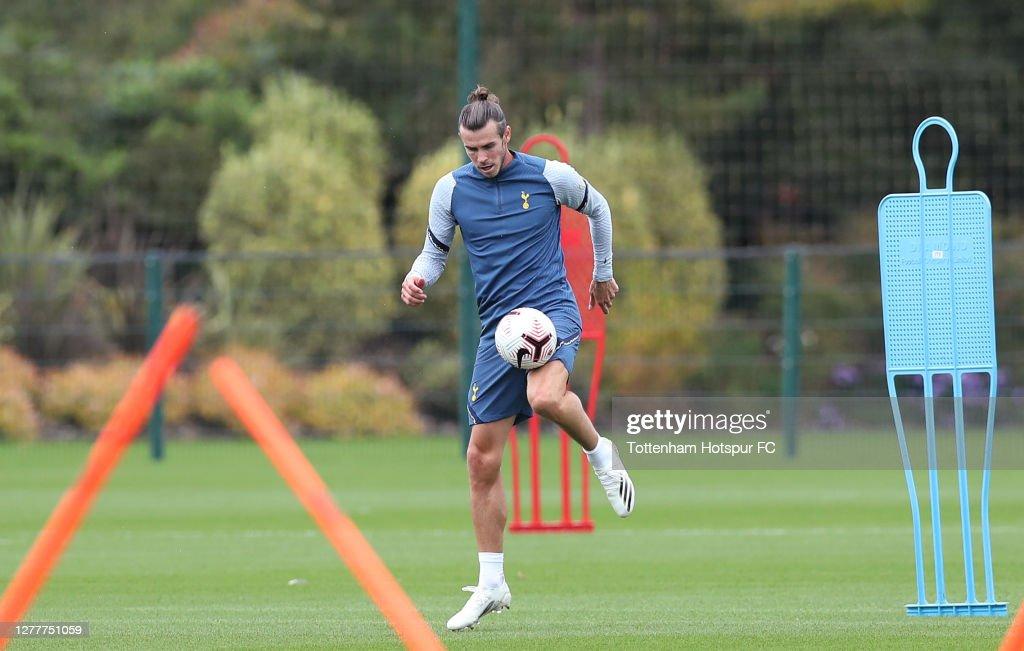 Gareth Bale Trains at Tottenham Hotspur : News Photo