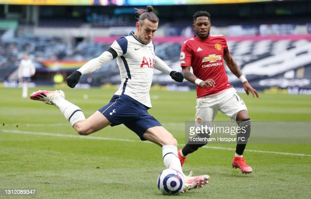 Gareth Bale of Tottenham Hotspur during the Premier League match between Tottenham Hotspur and Manchester United at Tottenham Hotspur Stadium on...