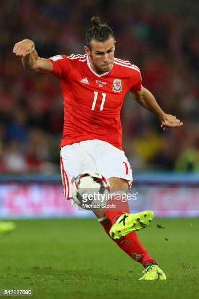 Gareth Bale of Wales during the FIFA 2018 World Cup Qualifier Group D match between Wales and Austria at Cardiff City Stadium on September 2 2017 in...