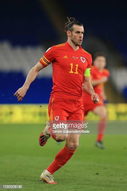 Gareth Bale of Wales during the FIFA World Cup 2022 Qatar qualifying match between Wales and Czech Republic at Cardiff City Stadium on March 30, 2021...