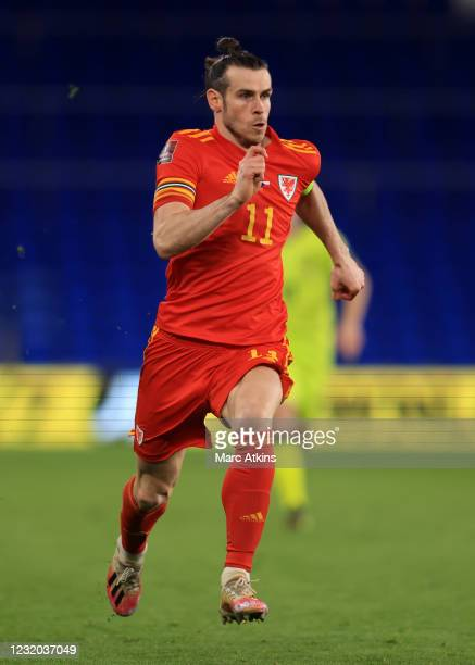 Gareth Bale of Wales during the FIFA World Cup 2022 Qatar qualifying match between Wales and Czech Republic on March 30, 2021 in Cardiff, United...