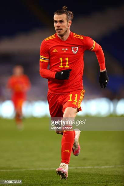 Gareth Bale of Wales during the International Friendly match between Wales and Mexico at Cardiff City Stadium at Cardiff City Stadium on March 27,...