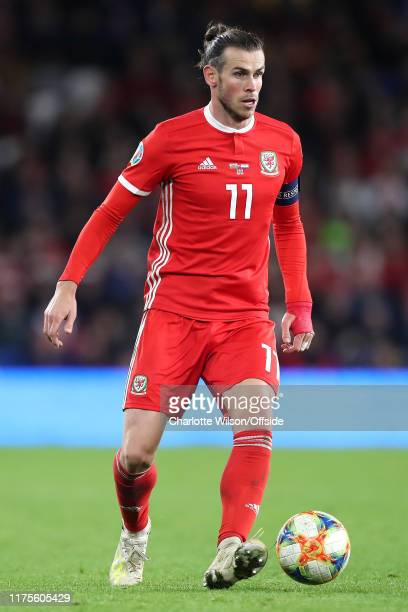 Gareth Bale of Wales during the UEFA Euro 2020 qualifier between Wales and Croatia at Cardiff City Stadium on October 13, 2019 in Cardiff, Wales.