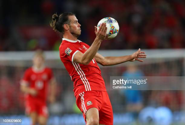 Gareth Bale of Wales during the UEFA Nations League B group four match between Wales and Republic of Ireland at Cardiff City Stadium on September 6...