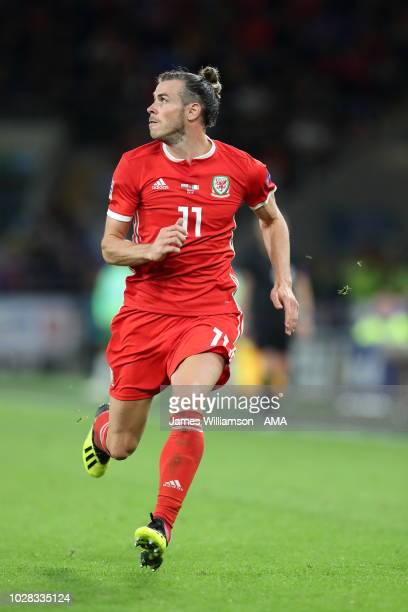 Gareth Bale of Wales during the UEFA Nations League B group four match between Wales and Irland at Cardiff City Stadium on September 6 2018 in...