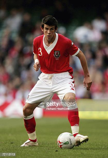 Gareth Bale of Wales in action during the EURO 2008 Group D qualifying match between Wales and Slovakia at The Millennium Stadium on October 7 2006...