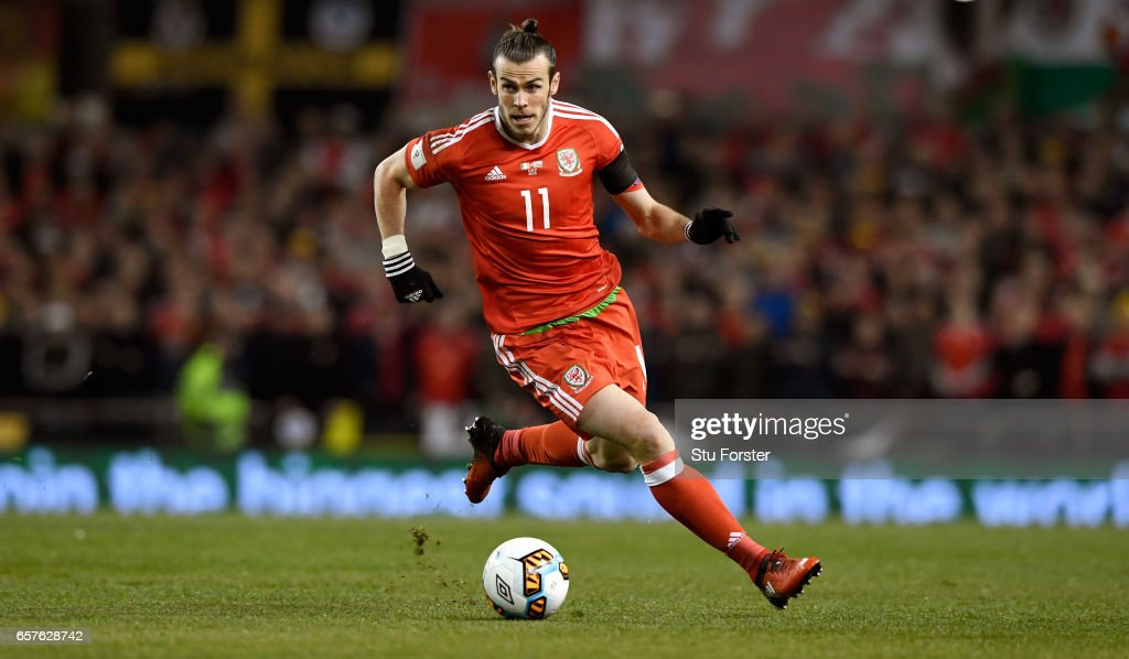 Gareth Bale of Wales in action during the FIFA 2018 World Cup Qualifier between Republic of Ireland and Wales at Aviva Stadium on March 24, 2017 in Dublin, Ireland.