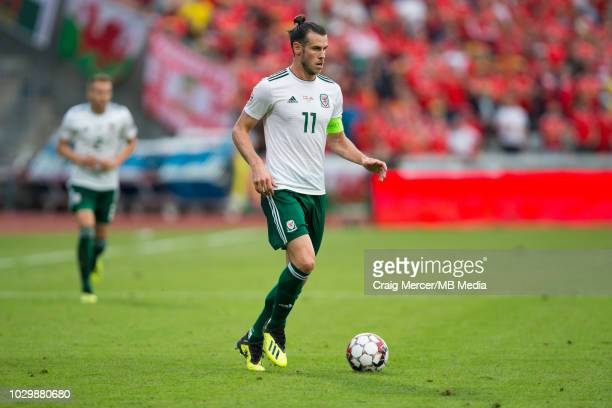 Gareth Bale of Wales in action during the UEFA Nations League B group four match between Denmark and Wales at on September 9 2018 in Aarhus Denmark