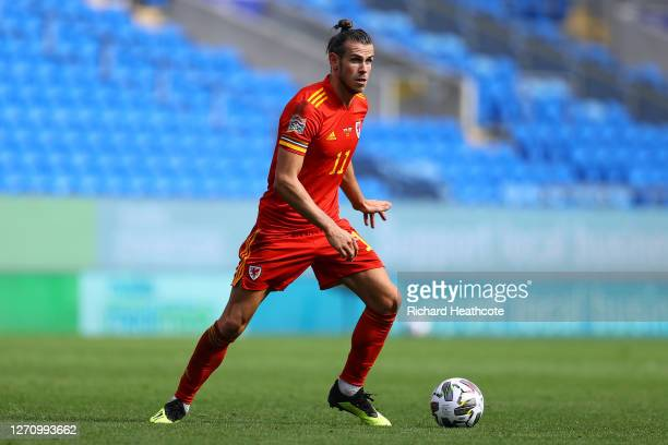 Gareth Bale of Wales in action during the UEFA Nations League group stage match between Wales and Bulgaria at Cardiff City Stadium on September 06,...