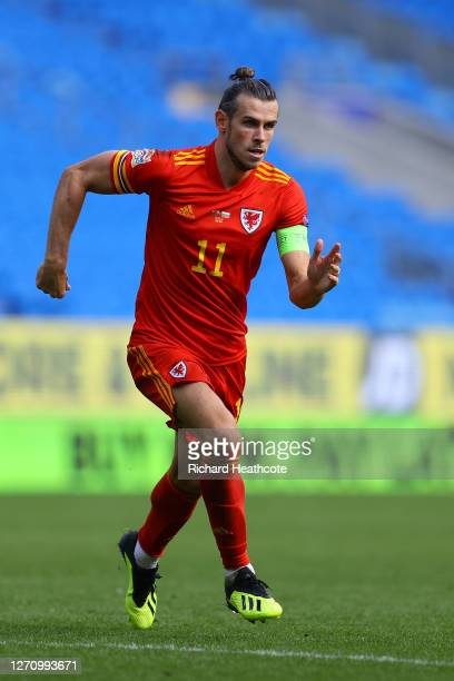 Gareth Bale of Wales in action during the UEFA Nations League group stage match between Wales and Bulgaria at Cardiff City Stadium on September 06...