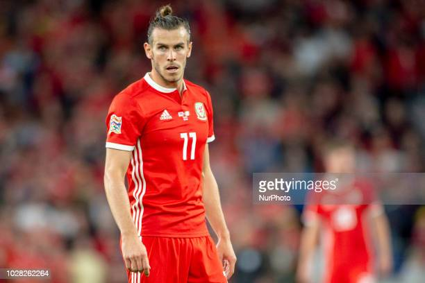Gareth Bale of Wales looks on during the UEFA Nations League 2019 between Wales and Republic of Ireland at Cardiff City Stadium in Cardiff United...