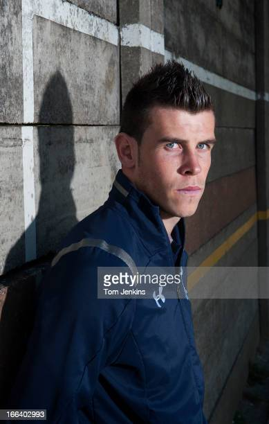 Gareth Bale Tottenham Hotspur and Wales footballer poses a portrait session at a school in Enfield North London on September 18 2012