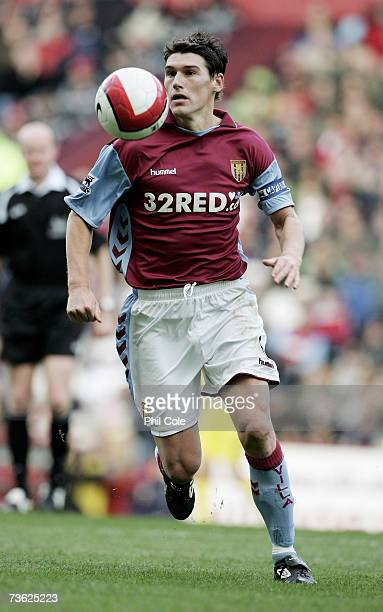 Gareth Barry of Aston Villa during the Barclays Premiership match between Aston Villa and Liverpool at Villa Park on March 18 2007 in Birmingham...