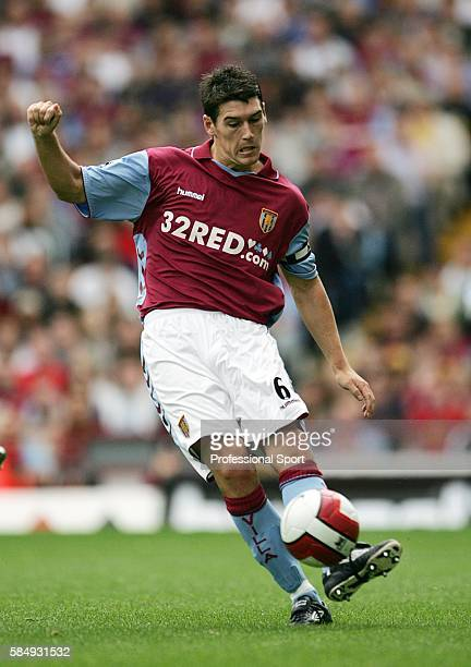Gareth Barry of Aston Villa in action against Newcastle United during their FA Premier League match at Villa Park in Birmingham on August 27th 2006