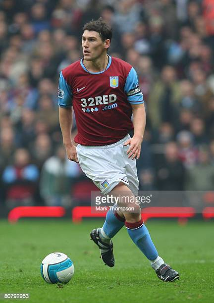 Gareth Barry of Aston Villa in action during the Barclays Premier League match between Aston Villa and Birmingham City at Villa Park on April 20 2008...