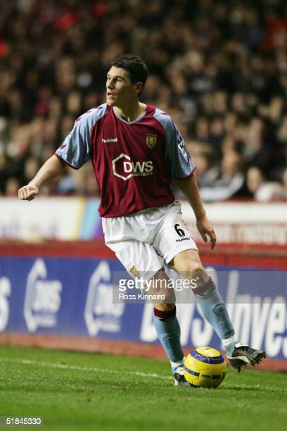 Gareth Barry of Aston Villa in action during the Barclays Premiership match between Aston Villa and Liverpool at Villa Park on December 4 2004 in...
