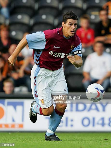 Gareth Barry of Aston Villa in action during the Preseason Friendly match between Hull City and Aston Villa at the KC Stadium on July 25 2006 in Hull...