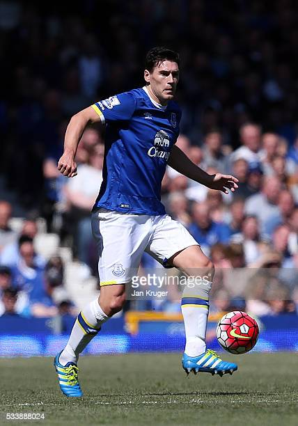 Gareth Barry of Everton during the Barclays Premier League match between Everton and Norwich City at Goodison Park on May 15 2016 in Liverpool England