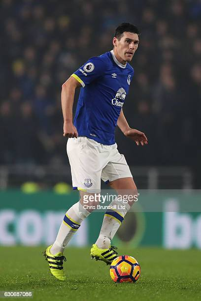 Gareth Barry of Everton in action during the Premier League match between Hull City and Everton at KC Stadium on December 30 2016 in Hull England