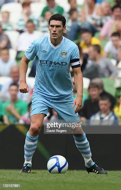 Gareth Barry of Manchester City looks on during the Dublin Super Cup match between Manchester City and Airtricity XI at Aviva Stadium on July 30 2011...