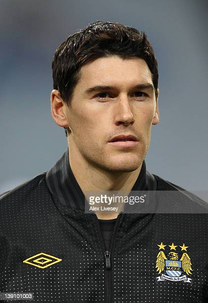 Gareth Barry of Manchester City looks on prior to the UEFA Europa League round of 32 first leg match between FC Porto and Manchester City at Estadio...