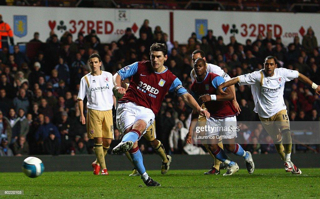 Aston Villa v Middlesbrough - Premier League : News Photo