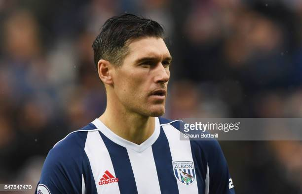 Gareth Barry of West Bromwich Albion looks on prior to the Premier League match between West Bromwich Albion and West Ham United at The Hawthorns on...