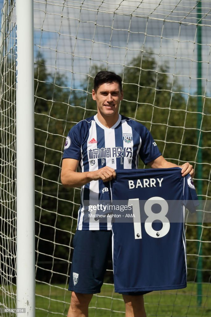 Gareth Barry signs for West Bromwich Albion on August 15, 2017 in West Bromwich, England.