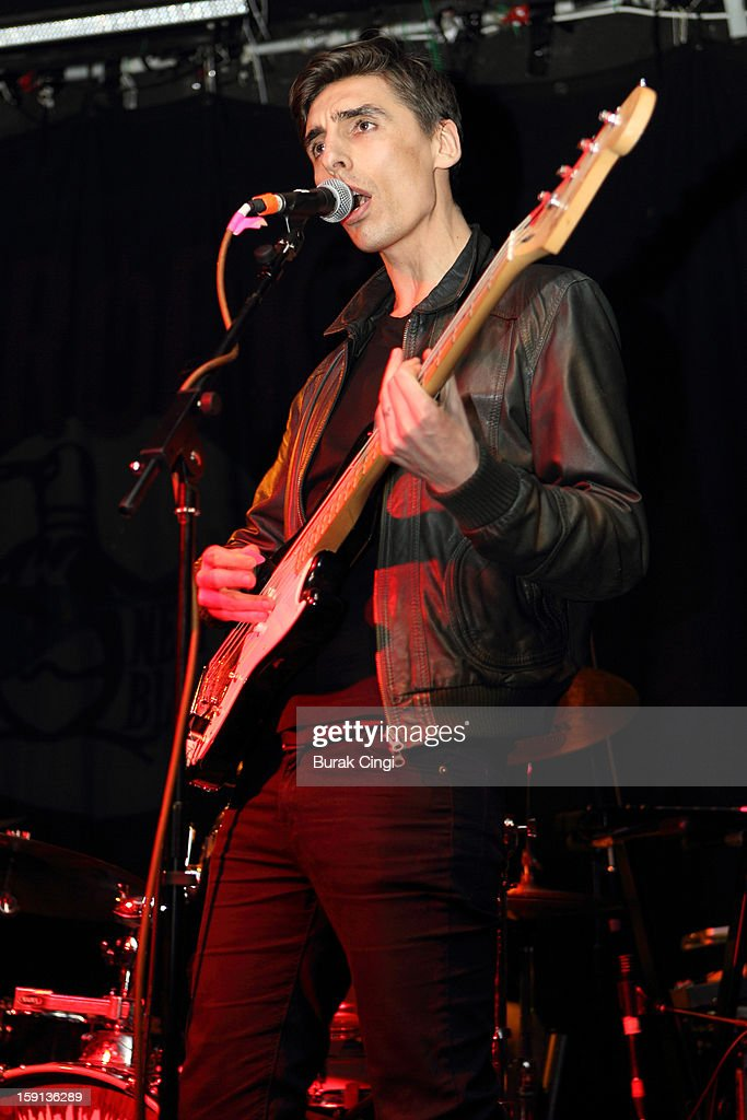 Gareth Bartlett of The Kill Van Kulls perform on stage on day one of Artrocker Magazine's New Blood Festival at Hoxton Square Bar And Kitchen on January 8, 2013 in London, England.