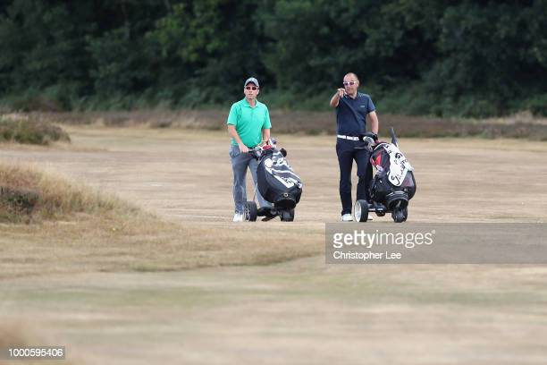 Gareth Brown and Lee Cocker of Benton Hall Golf and Country Club during The Lombard Trophy South Qualifier at Walton Heath Golf Club on July 17 2018...
