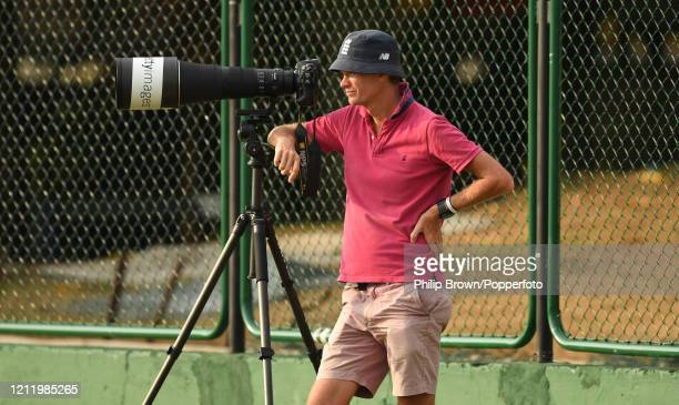 Gareth Copley, a staff photographer with Getty Images looks on during the match between a Sri Lanka Board President's XI and England at P Sara Oval...
