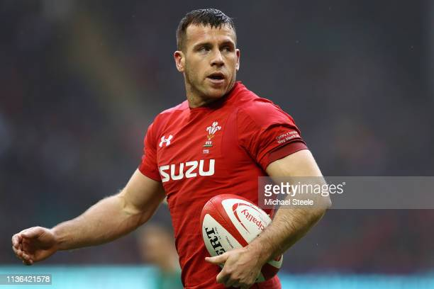 Gareth Davies of Wales during the Guinness Six Nations match between Wales and Ireland at Principality Stadium on March 16 2019 in Cardiff Wales