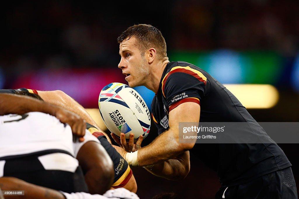 Wales v Fiji - Group A: Rugby World Cup 2015 : Fotografia de notícias