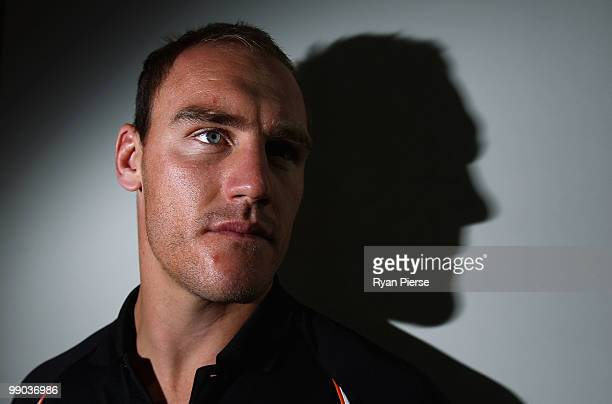 Gareth Ellis of Wests Tigers and Great Britain poses during a Wests Tigers NRL press conference at Trend Micro Offices on May 12 2010 in Sydney...