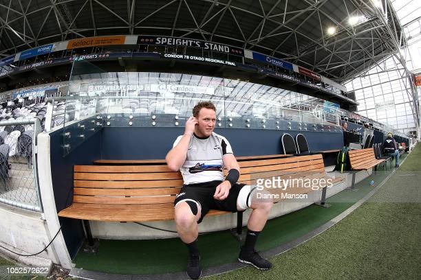 Gareth Evans of Hawkes Bay looks on prior to the Mitre 10 Cup Championship Semi Final match between Otago and Hawke's Bay on October 20, 2018 in...