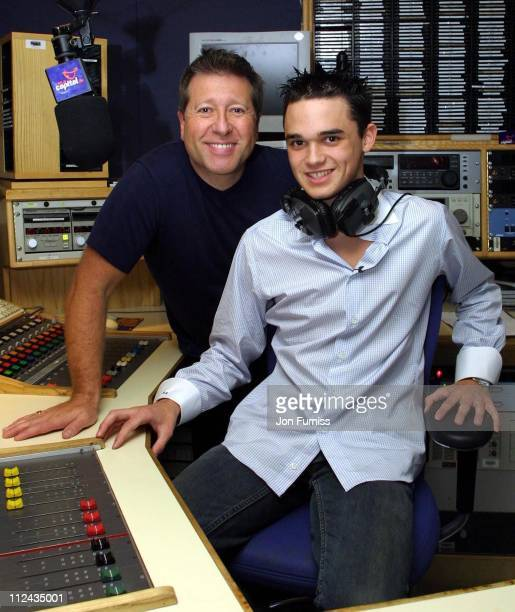 Gareth Gates and Dr Fox during Gareth Gates Visits Capital FM Radio - July 4, 2002 at Leicester Square in London, Great Britain.