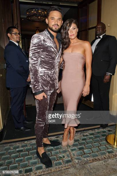 Gareth Gates and Faye Brookes attending DIVA Magazine Awards on June 8, 2018 in London, England.