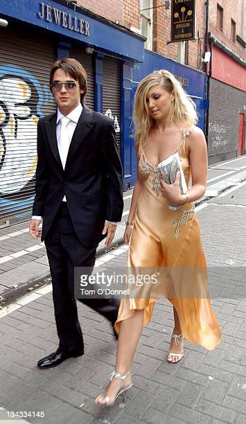 Gareth Gates and guest during Mikey Graham's Wedding in Dublin at St Mary's Pro Cathedral in Dublin, Ireland.