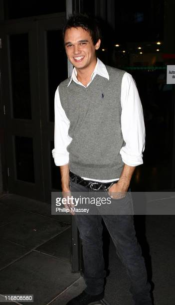 Gareth Gates at the Late Late Show at RTE Studios on October 12, 2007 in Dublin, Ireland.