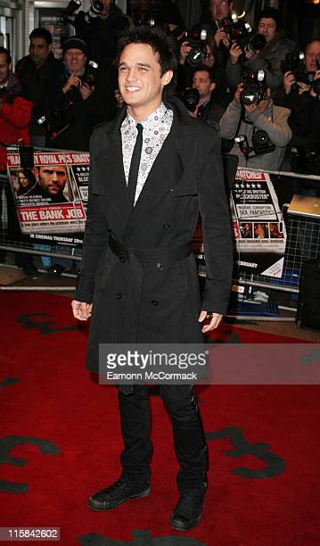 Gareth Gates attends 'The Bank Job' World Premiere at the Odeon West End on February 18, 2008 in London, England.