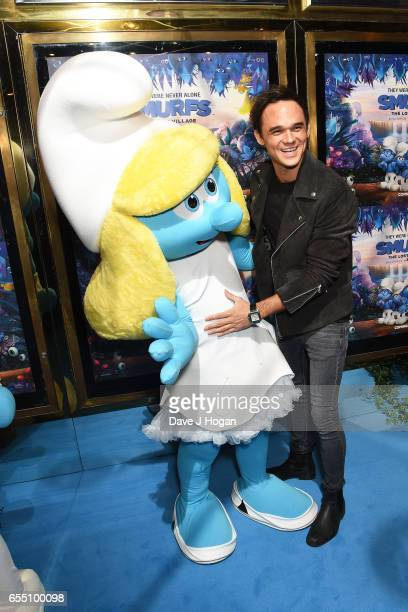 Gareth Gates attends the Gala Screening of 'Smurfs: The Lost Village' at Cineworld Leicester Square on March 19, 2017 in London, England.