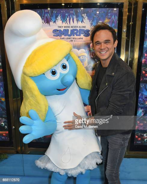 """Gareth Gates attends the Gala Screening of """"Smurfs: The Lost Village"""" at Cineworld Leicester Square on March 19, 2017 in London, England."""