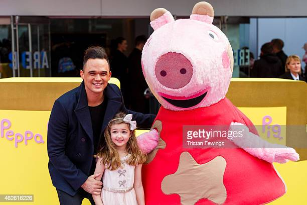 Gareth Gates attends the premeire of 'Peppa Pig The Golden Boots' at Odeon Leicester Square on February 1 2015 in London England