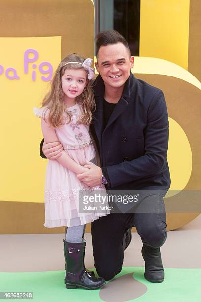 Gareth Gates attends the UK premiere of 'Peppa Pig The Golden Boots' at Odeon Leicester Square on February 1 2015 in London England
