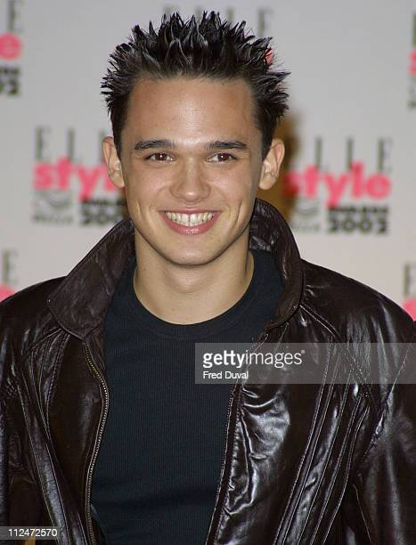 Gareth Gates during Elle Style Awards - September 17, 2002 at Natural History Museum in London, United Kingdom.