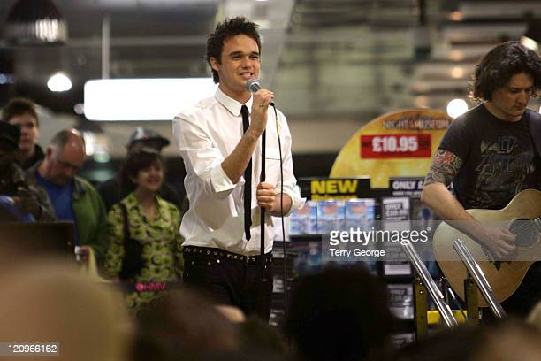 """Gareth Gates during Gareth Gates Performs at HMV Leeds to Launch New Single """"Changes"""" at HMV Leeds in London, Great Britain."""