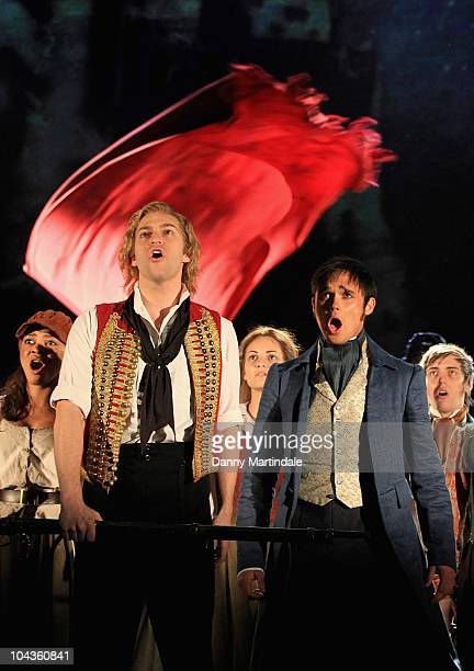 Gareth Gates performs excerpts from Les Miserables at Barbican Theatre on September 22, 2010 in London, England.